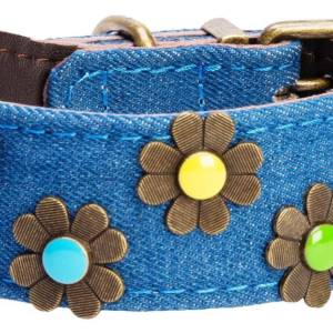 Boho dark denium blue collar