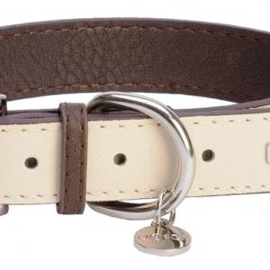 DO&G Leather Collection Collar White