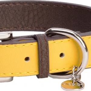 DO&G Leather Collection Collar Yellow