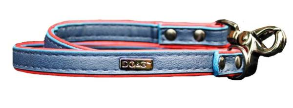 blue red leather lead